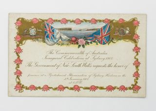 The Commonwealth of Australia Inaugural Celebrations at Sydney 1901. The Government of New South...