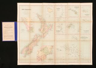 Philips' Series of Travelling Maps. New Zealand, by W. Hughes, F.R.G.S. [cover title]. Map: New...