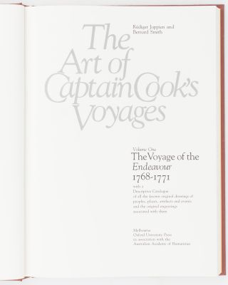 The Art of Captain Cook's Voyages. Volume 1: The Voyage of the 'Endeavour', 1768-1771. Volume 2: The Voyage of the 'Resolution' and 'Adventure', 1772-1775. Volume 3: The Voyage of the 'Resolution' and 'Discovery', 1776-1780 (in two volumes)