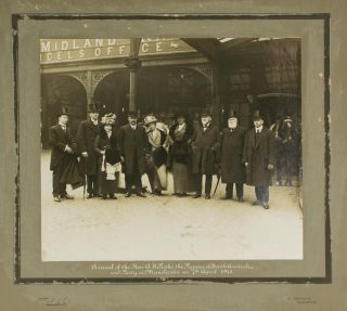 'Arrival of the Hon. A.H. Peake, the Premier of South Australia and Party at Manchester on 7th...