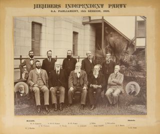 'Members Independent Party. SA Parliament, 15th Session, 1899' [a vintage photograph]. Archibald...