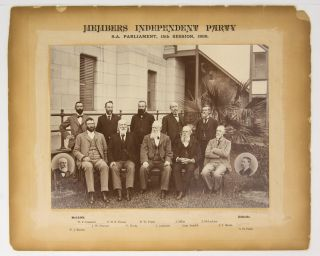 'Members Independent Party. SA Parliament, 15th Session, 1899' [a vintage photograph]