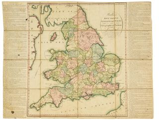 Wallis's Tour through England and Wales. A New Geographical Pastime. Cartographic Game
