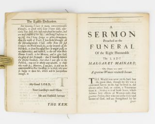 A Sermon preached at the Funeral of the Right Honourable the Lady Margaret Mainard, at Little Easton in Essex, on the 30th of June, 1682