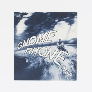 Gnome & Rhone motorcycles: a 1938 sales brochure. Trade Catalogue