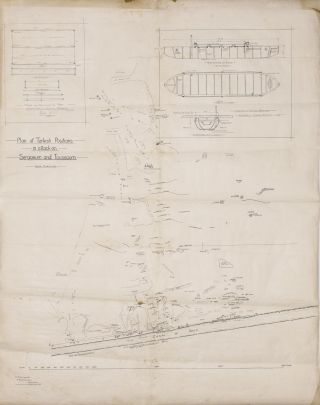 'Plan of Turkish Positions in attack on Serapeum and Toussoum'. A large-scale map ('12 ins = 1...