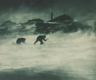 'A Blizzard'. Australasian Antarctic Expedition, Frank HURLEY
