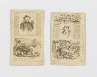 Two cartes de visite reproducing pages from the Adelaide edition of the 'Illustrated Melbourne...