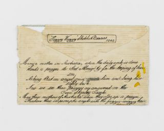 A standard letter-size envelope apparently sent by an Australian soldier on active service in New Guinea during the Second World War