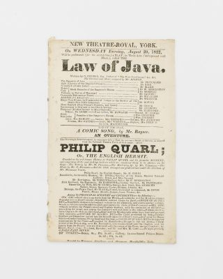 'New Theatre-Royal, York. On Wednesday Evening, August 20, 1822, will be performed (for the...
