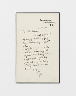 An autograph letter signed 'Tennyson' (dated 28 June 1917), to Pamela Tennant (née Wyndham),...