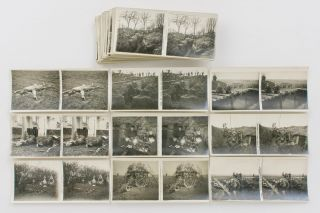 A collection of 100 French stereophotographs of the First World War, painting an intimate (and...