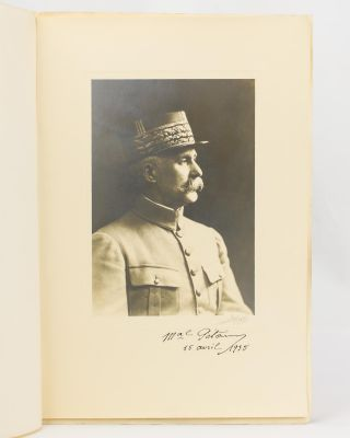 A portrait photograph signed by Marshal Pétain ('Mal Pétain'). Marshal Philippe PETAIN, French...