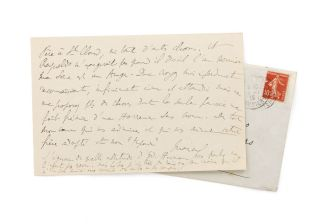 An autograph letter signed 'Marcel' to Maria Madrazo, sister of composer Reynaldo Hahn, Proust's...