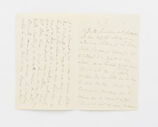 An autograph letter signed 'Marcel' to Maria Madrazo, sister of composer Reynaldo Hahn, Proust's intimate friend and sometime lover