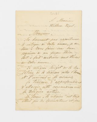 A letter (in French) signed by Maksim Gorki ('M. Gorcy') to one Willem Vogel, discussing his...