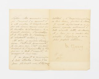 A letter (in French) signed by Maksim Gorki ('M. Gorcy') to one Willem Vogel, discussing his views on religion