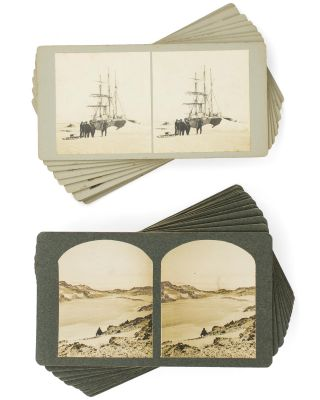 A collection of 29 original stereophotographs from Shackleton's British Antarctic Expedition,...