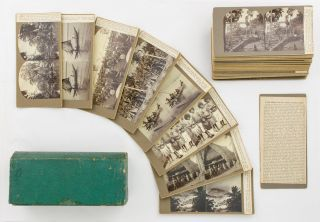 A collection of stereophotographs of 'New Guinea, New Britain, Solomon, and many other islands...