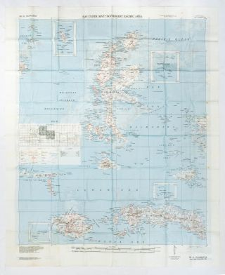 AAF Cloth Map - South West Pacific Area. No. 20, Amboina [recto]. [Together with] No. 21,...