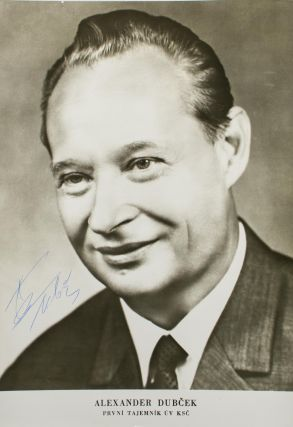 A portrait photograph signed by Alexander Dubcek. Alexander DUBCEK, Czechoslovak politician