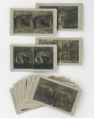 A series of 19 stereographs of the Naracoorte Caves in the south-east of South Australia....