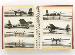 An album of 119 photographs of British aircraft of the Second World War, chiefly various models...