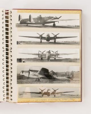An album of 119 photographs of British aircraft of the Second World War, chiefly various models of the Vickers Wellington and Vickers Warwick bombers, including many rare and unique prototypes