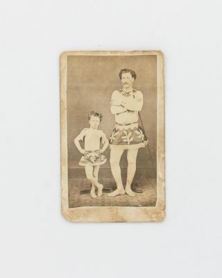 A carte de visite of an adult and child in matching costumes, suggestive of 'professional'...