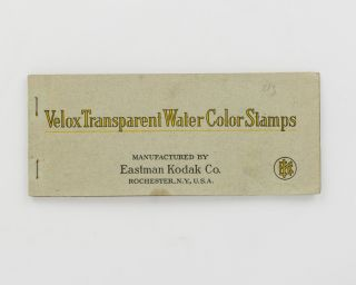 Velox Transparent Water Color [sic] Stamps. Manufactured by Eastman Kodak Co. Trade Catalogue
