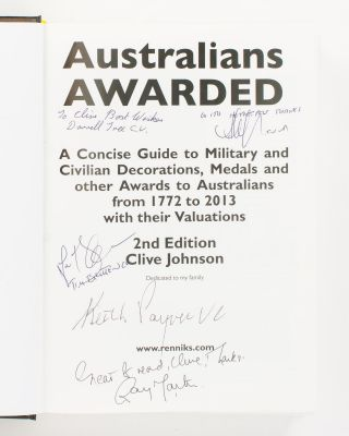 Australians Awarded. A Concise Guide to Military and Civilian Decorations, Medals and Other...