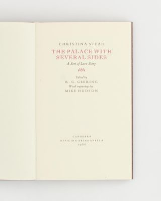 The Palace with Several Sides. A Sort of Love Story. Edited by R.G. Geering