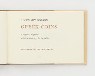 Greek Coins. A Sequence of Poems with Line Drawings by the Author