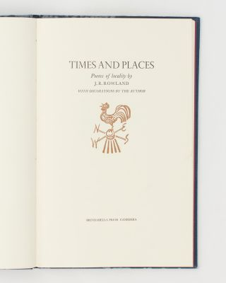 Times and Places. Poems of Locality