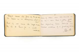 An autograph poem initialled by Robert Graves, written in 1940 in a small autograph book. Robert...