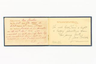 'Autographs of My Comrades On Active Service' [cover title of a small album containing the particulars and signatures of 20 Australian servicemen, at least 16 of them Gallipoli veterans]