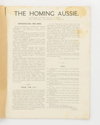 The Homing Aussie. A Souvenir of the Voyage of TSS 'Euripides'. Sept. - Oct. 1919 [cover title]