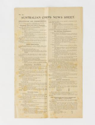 Australian Corps News Sheet [drop-title masthead]. Number 14