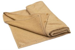 A Jaeger camel-hair woollen blanket-sleeping bag as supplied to members of the Australasian...