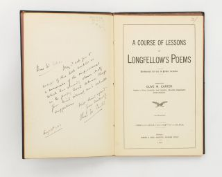 A Course of Lessons on Longfellow's Poems. Authorised for use in Public Schools