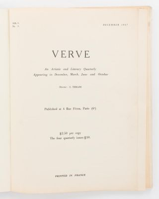 Verve. An Artistic and Literary Quarterly. Volume 1, Number 1, December 1937