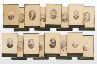 A series of 17 vintage individual portrait photographs of almost all nineteenth-century governors...