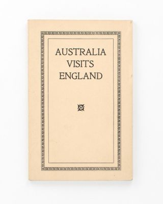Australia visits England. Contrasts and Similitudes. By Aussie. Thomas DUFFIELD, AUSSIE