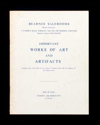 Catalogue of the Important Works of Art and Artifacts. Including items which relate to the...
