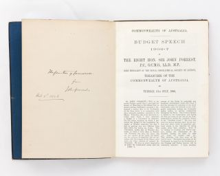 Budget Speech 1906-7 by the .. Treasurer of the Commonwealth of Australia, on Tuesday, 31st July, 1906 [drop-title]