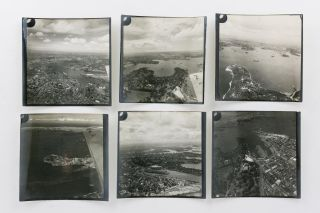 A collection of fifteen vintage oblique aerial photographs of Sydney Harbour taken during the Second World War
