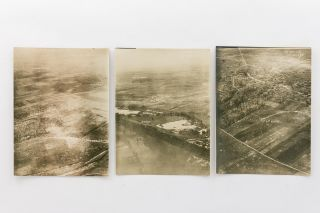 A collection of ten aerial photographs taken during the First World War