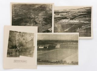 Four vintage aerial photographs of Leighterton Aerodrome, one of the training airfields for the...