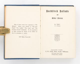 Backblock Ballads and Other Verses