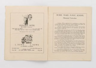 1895 - 1933. Back to Burke Ward School. Old Scholars' Celebration ... Souvenir Programme [cover title]